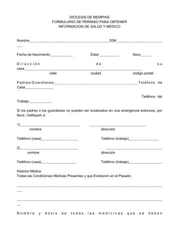 Extraction consent form spanish health medical form in spanish thecheapjerseys Images