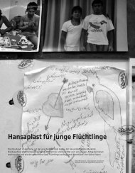 Hansaplast für junge Flüchtlinge - Hinterland Magazin