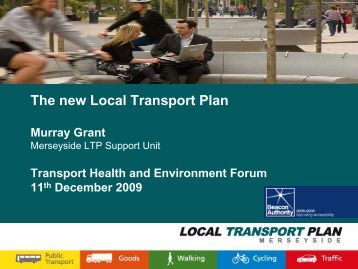 The new Local Transport Plan - the TravelWise Merseyside website