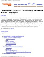 The Killer-App for Domain Specific Languages?