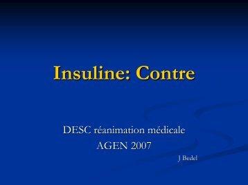 Insuline: Contre