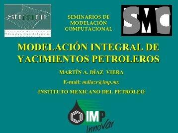 Modelación de un Yacimiento - Modelación Matemática y ...