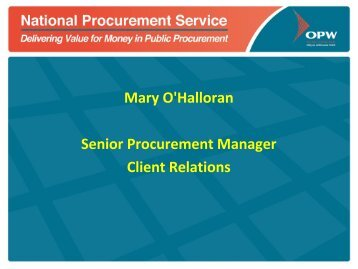 Tendering for Public Sector Contracts - National Procurement Service