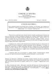 AVVISO PUBBLICO - Comune di Novara