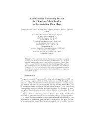 Evolutionary Clustering Search for Flowtime Minimization in ... - Inpe