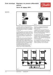 Fiche technique Régulateur de pression différentielle ASV-PV ...