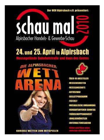 24.und 25. April in Alpirsbach - HGV Alpirsbach