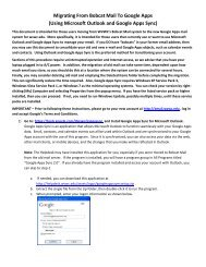 Migrating From Bobcat Mail To Google Apps - Help Desk - West ...