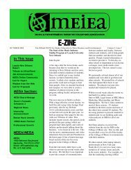 E-ZINE - Music and Entertainment Industry Educators Association