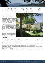 Scheda casa mobile shelbox verde