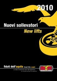 New lifts New lifts - MONDOLFO FERRO Spa