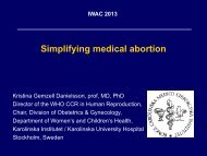 Simplifying medical abortion - The Second International Congress ...