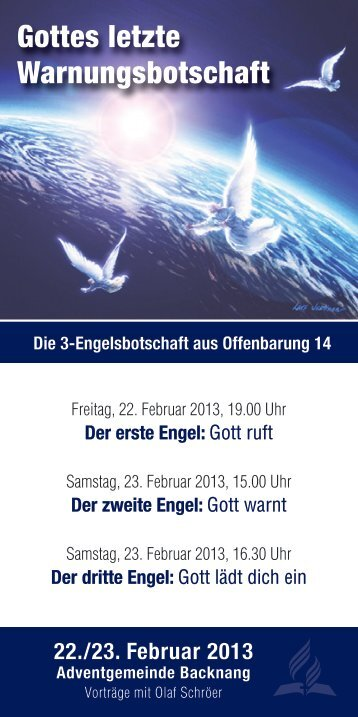 Gottes letzte Warnungsbotschaft - olafschroeer.de