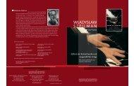 Edition der Konzertwerke und ausgewählter Songs