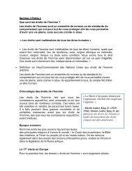 Section 1 Partie 1 Que sont les droits de l'homme ? Les ... - Internews