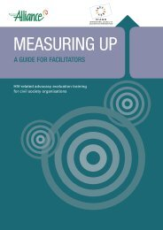 Measuring Up: Facilitators guide - Monitoring and Evaluation NEWS