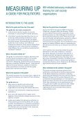 Measuring Up: Facilitators guide - Monitoring and Evaluation NEWS - Page 3