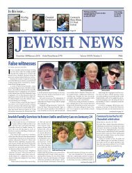December 09-January - Washtenaw Jewish News