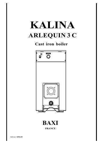 KALINA ARLEQUIN 3 C Cast iron boiler - klimatika