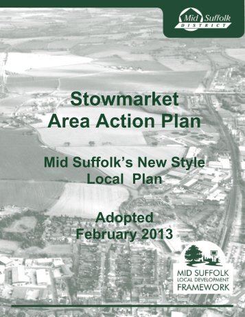 Adopted Stowmarket Area Action Plan - Mid Suffolk District Council