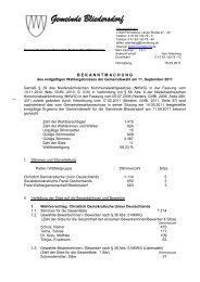 Wahlergebnisses der Gemeinde Bliedersdorf (40kb)