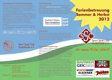 Sport Spaß Spiel - SSC Dodesheide e.V.