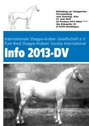 Internationale Shagya-Araber Gesellschaft e.V. - North American ...