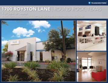 1700 ROYSTON LANE | ROUND ROCK, TEXAS - Transwestern