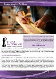 Accounting for Builders - Linda McGowan Accountants