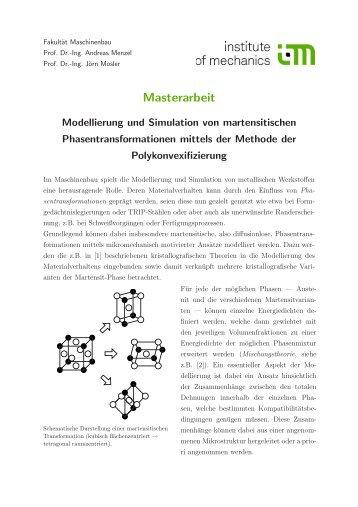Modellierung und Simulation von martensitischen ...