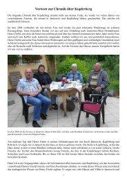 Vorwort zur Chronik über Kupferberg - Heinz Kornemann