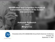 Identification and Congestion Analysis of Transmission Corridors of ...