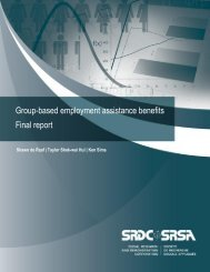 Group-based employment assistance benefits Final report - Social ...