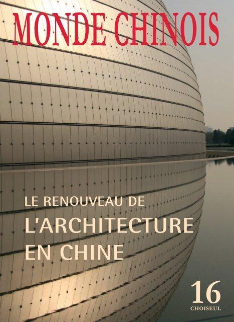 L'ARCHITECTURE EN CHINE - Cité de l'architecture & du patrimoine