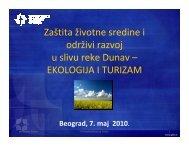 Zaštita životne sredine i održivi razvoj u slivu reke Dunav ...