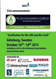 Göteborg, Sweden October 16th–18th 2013 - SGC