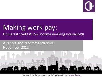 Making work pay report November 2012