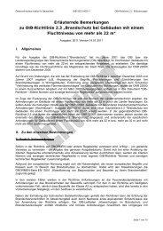 """Erläuternde Bemerkungen zu OIB-Richtlinie 2.3 """"Brandschutz bei ..."""