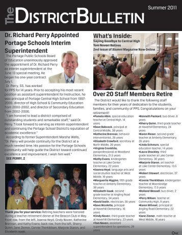 The District Bulletin - Summer 2011 - Portage Public Schools