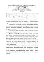 Discurso do Orador Acad. Aníbal Gil Lopes - Academia Nacional de ...