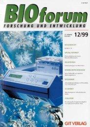 BIOforum 12/1999 - BERNER International GmbH