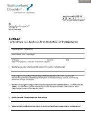 ANTRAG - Stadtsportbund Düsseldorf