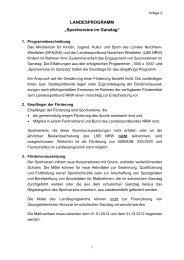 """LANDESPROGRAMM """"Sportvereine im Ganztag"""""""