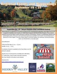 Mount Pleasant Glass and Ethnic Festival - Hidden Valley Resort