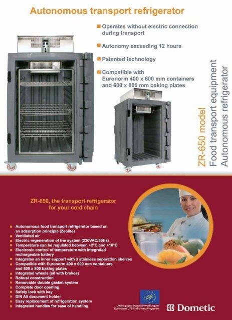 Autonomous transport refrigerator