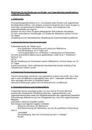 Richtlinien Kinder- und Jugenderholungsmaßnahmen
