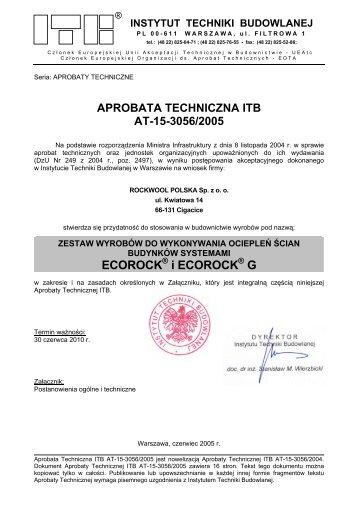 aprobata techniczna itb at-15-3056/2005 - Melle