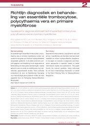 Richtlijn diagnostiek en behandeling van essentiële trombocytose ...