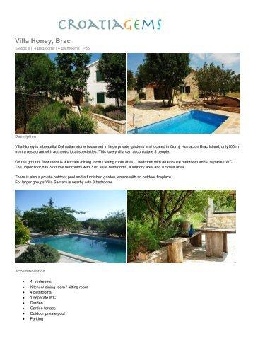 Villa Honey, Brac - Croatia Gems