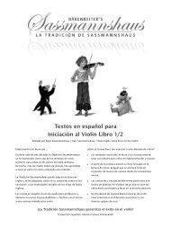 Textos en español para Iniciación al Violín Libro 1/2